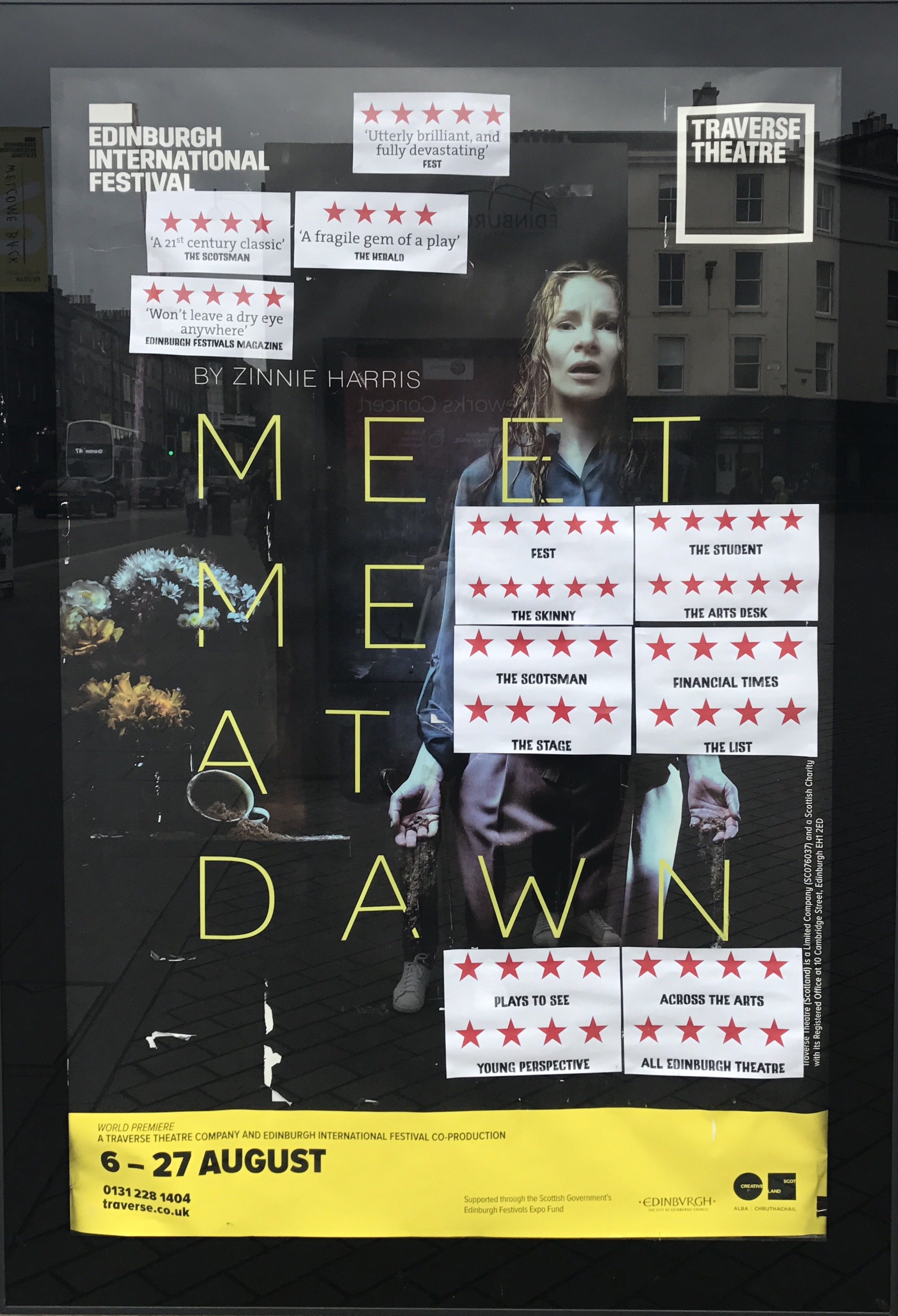 W&G are proud to have worked with Traverse Theatre on the their 2017 Edinburgh International Festival production of 'Meet Me At Dawn'.