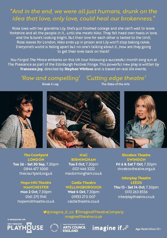 W&G are so proud to have worked on this amazing production with Imagine if Theatre Company as Movement & Performance Director's, now receiving great feedback & success on tour!
